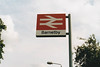 BARNETBY - The sign outside Barnetby Station. I was there on August 27th, 1999. I suspect that not too many of these still exist.