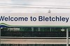 BLETCHLEY - A Silverlink sign which I've cut a lump of the W off some reason. This is on the Marston Vale platforms - I was there on April 15th, 1999.