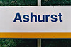 ASHURST - The Connex South Eastern at Ashurst, a small station on the then non-electrified line to Uckfield - I was there on 29/07/99.