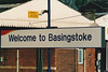 BASINGSTOKE - South West Trains sign at Basingstoke - I was there on March 31st, 1999.