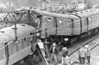"""BELLGROVE - On March 6th, 1989, two Class 303 commuter trains crashed on the Springburn branch of the North Clyde Line, just east of Bellgrove station in the East End of Glasgow, Scotland. Two people were killed and 53 injured. The accident was caused primarily by a Signal passed at danger (SPAD) in conjunction with the single-lead junction track layout, where two lines converged into one just beyond the platform end and then diverged again – a layout which is simpler to maintain but is vulnerable in the event of a SPAD. The collision was at 80mph as both trains were travelling at 40mph. The force of the impact was so severe that at least one passenger was thrown out his seat and completely destroyed one of the """"A"""" frame back to back seats."""