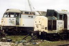 BOOTH'S SCRAPYARD, Rotherham - 47291, built in March 1966 as D1993 and withdrawn in August 1998, and 37225, built in February 1964 as D6925 and withdrawn, officially, in February 2004, but actually taken out of traffic in April 1999, await the final blow on Booth's scrapyard in April 2004 - it was not to be long in coming!