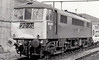 CREWE WORKS - 86 208 - BR/EE Class 86 Bo-Bo AC Electric - built 02/66 by English Electric as E3141 - 1973 to 86 208 - withdrawn 03/00 - seen here at Crewe Works for repairs to accident damage, 11/04/76.