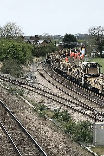 CHURCH FENTON - At about 0200 on May 4th, 2021, an engineering train came off the tracks on the line between York and Leeds at Church Fenton. Five wagons of a train carrying continuous welded rail became derailed on a very sharp curve on the line between Church Fenton and Micklefield. Passenger trains were cancelled or diverted. The wagons were quickly rerailed and the train was moved away during the afternoon with services restarting on the following day. There has been extensive engineering work in the area in connection with HS2.