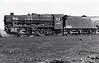 48375 - Stanier LMS Class 8F 2-8-0 - built 11/44 by Horwich Works as LMS No.8375 - withdrawn 10/67 from 10D Rose Grove - seen here with collision damage, sans front end.