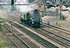 60009 UNION OF SOUTH AFRICA - Gresley LNER Class A4 4-6-2 - built 06/37 by Doncaster Works as LNER No.4498 OSPREY - 04/37 original name removed - 01/47 to LNER No.9, 05/48 to BR No.60009 - 06/66 withdrawn from 61B Aberdeen Ferryhill - seen here at Burton on Trent bound for Kettering to work tomorrow's Kettering - York steam charter, 09/05/03.