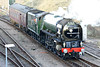 60163 TORNADO - Modified Peppercorn BR Class A1 4-6-2 - built 2008 in Darlington - seen here turning on the triangle at March after working 1Z63 Chertsey - Ely 'Cathedrals Express', 12/12/11.