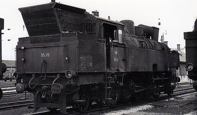 OBB -  95 115 - 2-10-2T, built for heavy freight and banking duties -