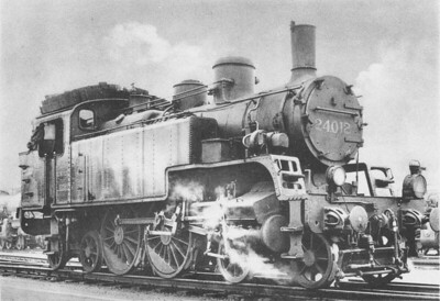SNCB/NMBS - 24012 - Ex Nortd Belge Class 24 'Reading TT 4-4-4T - built 1909 for suburban passenger duties - 105kmh.