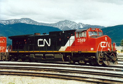 CANADIAN NATION RAILROAD - 2589 - GM Dash 9-44CWL, class EF-644c, built 1997 and still in traffic with CNR.