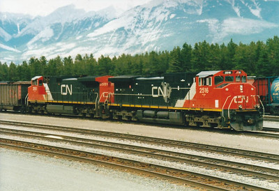 CANADIAN NATIONAL RAILROAD - 2516 - DASH 9 Class built by GE in 1994, seen here with sister 2551.
