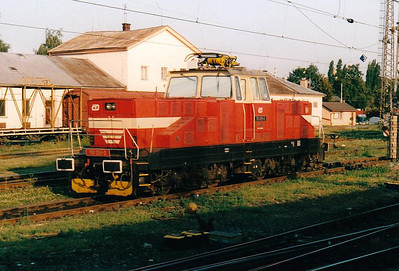 CD - 110 051 - 52 DC electric shunting/trip locos built 1971-1973 by Skoda - seen here at Olomouc, 10/08/04.
