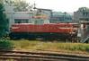 CD - 110 029 - 52 DC electric shunting/trip locos built 1971-1973 by Skoda - on depot at Valasske Meririci, 30/05/04.