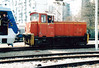HZ - 721 01 - small 0-4-0 shunter, Zagreb Works pilot - sets back into Zagreb Works with EMU 6111 019, 04/04/05.