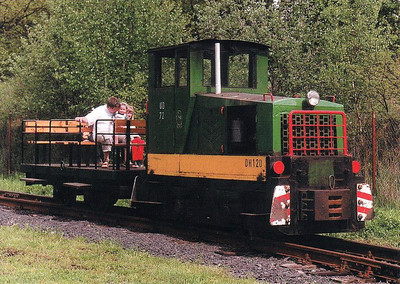 CZECH REPUBLIC - INDUSTRIAL - 72 - these Class DH120 were built in the late 1980's by the workshops at Kladno Steelworks to replace their steam locomotive fleet - seen here at the museum at Luzna u Rakovnika.
