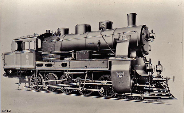 BULGARIA - 3015 - 25 Type 5/5 0-10-0T locomotives built by Hanomag (15) and Berliner Maschinenbau (10) from 1917 - 1936 renumbered in series 49.01 to 49.24 - 49.19 still exists in Bulgaria.