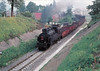 CZECHOSLOVAKIA - CSD - 354 1160, a 'Globetrotter' 4-6-2T, passes Kraliky Station with a local freight, 18/06/77.
