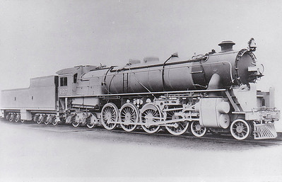 CHINA - 607 - 24 4-8-4 locomotives built in 1935 by Vulcan Foundry for the Canton and Hankow Railway - this loco was Vulcan Foundry Works No.4674 of 1935 - could handle trains of 1000 tons on the level at 50mph.