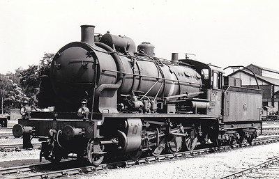 SNCF - 140C 187 - CF d'Etat 2-8-0 - built 1916 by North British Loco Co., Works No.21362 - withdrawn late 1960's/early 1970's.