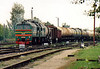 LDZ - 2M62 0320 - 40 'Double Sergei' 4000hp locomotives built by Lugansk from 1976 - arrives at Jelgava from Liepaja with a mixed freight, 24/08/06.