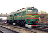LDZ - 2M62 0265 - 40 'Double Sergei' locomotives built by Lugansk from 1976 - has just come off depot at Jelgava and is about to back down into the yard to collect a train, 06/04/06.