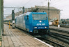 CFL - 185 520 - 20 engines, dual voltage, for local passenger/freight services, eventually using double-deck stock - sits in Luxembourg Station to collect the 1652 to Rodange, the only diagram they seemed to have, 29/10/03. This loco was on hire for testing.