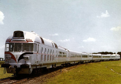 EGYPT - a 6-car luxury trainset with 2 motor cars, basically similar to MAV's MDmot trainsets, built by Ganz/MAVAG in 1965 and seen here in July 1967.