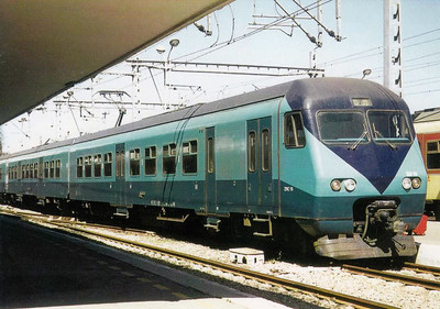 MOROCCO - Unit 16 - SNCB Class AM80 type 3-car emu's built in 1984 for Casablanca-Rabat-Kenitra shuttle services, with no air conditioning!