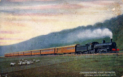 SOUTH AFRICA - the Johannesburg - Cape Express of the Central South African Railway - posted August 13th, 1915.