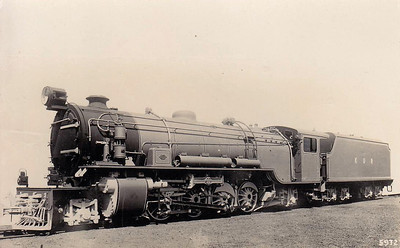 EAST AFRICA - KENYA & UGANDA RAILWAYS - KUR Class EA 2-8-2 built by Robert Stephenson in 1928, later Class 28 on East African Railways, the largest non-articulated locos on the railway.