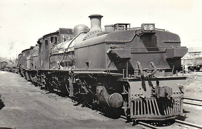 SOUTH AFRICA - SAR - 2623 - Class GCA 2-6-2+2-6-2 Garratt, 26 locomotives built by Krupp in 1928, a follow-on order from 13 similar engines built by Krupp in 1927 By 1973, only 7 locomotives survived, all stationed at Mason's Mill and all were withdrawn by 1975. 3 of those surviving 7 are seen at Mason's Mill in September 1973.