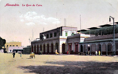 EGYPT - The Cairo Station, Alexandria - now known as Misr Station, it is the main intercity station - seen here in about 1910.