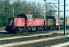 DB RAILION - 6512/6509 - Class 6400 diesel electric, 120 built from 1989, main freight diesel - arrives at Roosendaal with a container train from the north, 15/04/03.