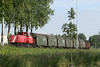 DB RAILION - 6516 heads a short steel train out of Terneuzen, 16/07/09.