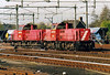 DB RAILION - 6511/6518 - Class 6400 diesel electric, 120 built from 1989, main freight diesel - arrive light engine at Roosendaal, having left their stone train at Essen, 15/04/03.