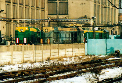 BYDGOSZCZ - PKP Class SM48's undergoing overhaul in the PESA Works at Bydgoszcz, 10/01/06. Russian-built Type TEM2, developed from reverse-engineered US engines supplied to the USSR under Lease-Lend, the two on the left are of the later, squarer body type whilst the one on the right, an earlier model, portrays it's US origins.