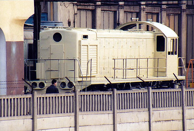 BYDGOSZCZ - in the PESA Works Yard, an unidentifiable SM48/TEM2 waits to enter the Paint Shop, 11/03/06.