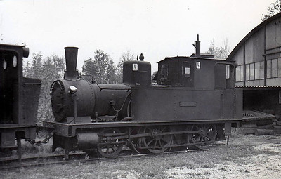 SWEDEN - KOHLSWA IRON FOUNDRY - No.1 - 2-4-0T - seen here in 1959.