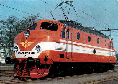 SWEDEN - SJ - CLASS RA - one of 10 Class Ra electric locomotives built by NOHAB in 1955, all now withdrawn.