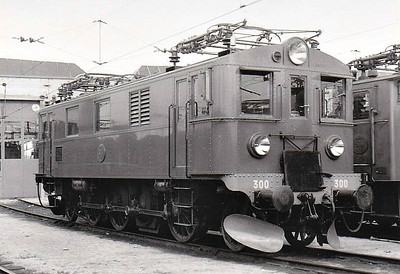 SWEDEN - SJ -  300 - Class Du 1-Co-1 electric locomotive built in 1934 by Falun - many of this class of engine were rebuilt in 1967 to form Class Du2 - seen here at Malmo in 05/60.