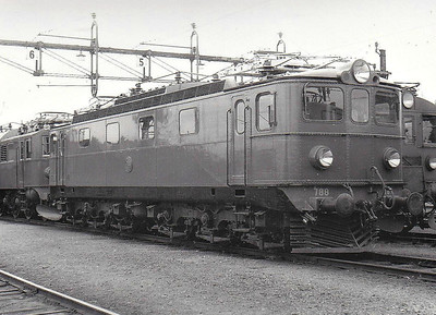 SWEDEN - SJ -  788 - 32 Class Ma Co-Co freight engines, built in 1953 - all now withdrawn - seen here at Hagalund in 05/62.
