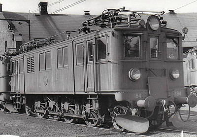 SWEDEN - SJ -  194 - Class Dg 1-Co-1 electric locomotive built in 1933 - many of this class of enginewere rebuilt in 1967 to form Class Du2 - seen here at Falun in 05/62.