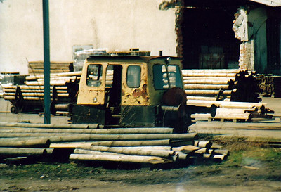 INDUSTRIAL - Is this the smallest standard gauge loco in the world? Seen in a timber yard at Maribor, 03/04/05.
