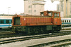 INDUSTRIAL - STORE STEEL - 732 DHLIII  - 120 small shunters built by Djuro Djakovic, Croatia, from 1970, 14 to SZ - seen here returning to Store Steel after bringing in a trip working to Ljubljana Station, 29/10/04.