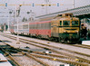 SZ - 342 010 -  40 engines built from 1968 in Italy for mixed traffic duties - arrives at Dobova on the 1200 to Zagreb, originating in Vienna, 25/10/04.