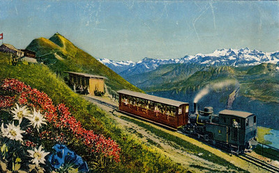 BRIENZER ROTHORN BAHN - Engine No.6 was built in 1933 and is seen here approaching the summit station.