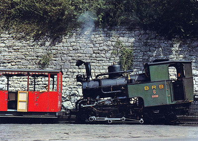 BRIENZER ROTHORN BAHN - Engine No.6 was built in 1933 and is seen here at Brienz prior to making its ascent to the summit. These locos are similar to those used on the Snowdon Mountain Railway.