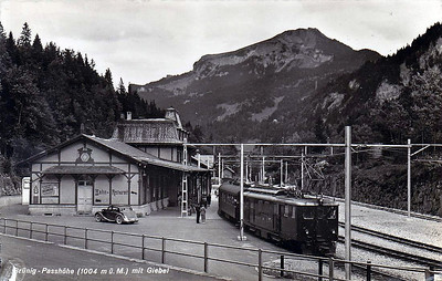 SBB - BRUNIG STATION - at the head of the Brunig Pass at 1004 metres above sea level.
