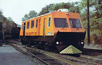 AMTRAK - TC8401 - Track Geometry Car built in 1976 by Plasser American, seen here at Hart Tower in Hartford, Connecticut, inspecting the Springfield line.