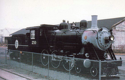 ATLANTIC COAST LINE RAILROAD - 250 - a 4-6-0 built by Baldwin in 1910 is plinthed at the Wilmington Railroad Museum.